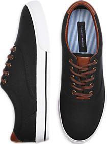 Tommy Hilfiger Paulie Black Canvas Sneakers