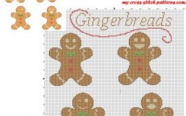 Christmas cookies gingerbreads free cross stitch pattern download made with PcStitch software
