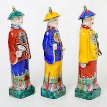 Small Chinese Wise Men Set. Porcelain.  Visit our online showroom for this and other items.