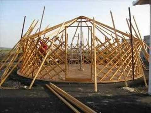 Genghis khan - Mongolian tent building process - YouTube