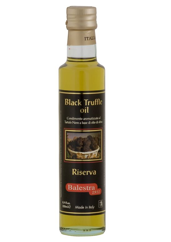 Black Truffle Olive Oil - Italy @ https://houseofcaviarandfinefoods.com/truffles/boscovivo-black-truffle-extra-virgin-olive-oil-250-ml-detail #truffle #italiantruffle #frenchtruffle #blacktruffle #whitetruffle #albatruffle