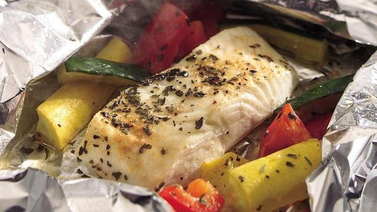 grilled lemon pepper halibut packs