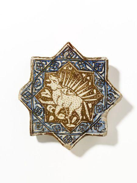 Tile      Place of origin:      Kashan, Iran (made)     Date:      ca. 1300 (made)