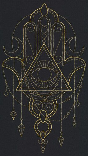 Talisman - Draping Hamsa | Urban Threads: Unique and Awesome Embroidery Designs