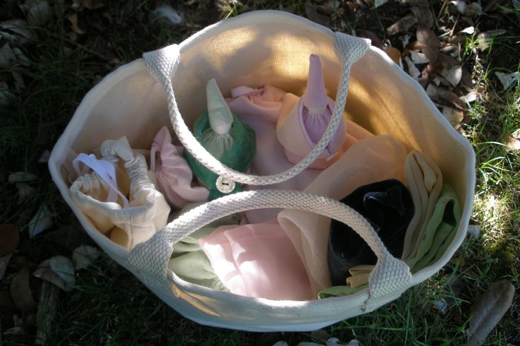 Canvas carry bag, tiny dolls + inspiring collections for imaginary play.