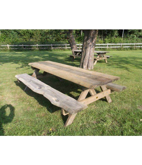 Farm boomstam picknicktafel 240 cm