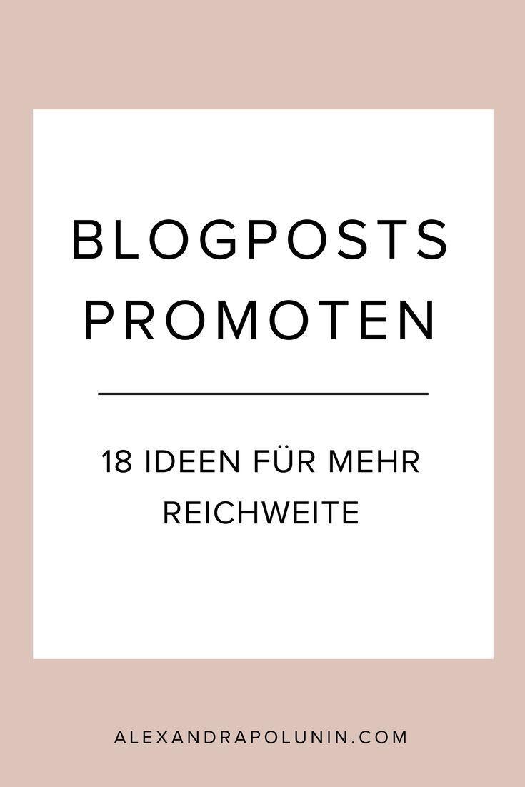 Blogartikel promoten – 18 Ideen für mehr Reichweite. Willst du mehr Traffic für deine Blogartikel generieren? Hier verrate ich dir, wie du mehr Leser auf deinen Blog bekommst.