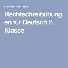Rechtschreibübungen für Deutsch 2. Klasse