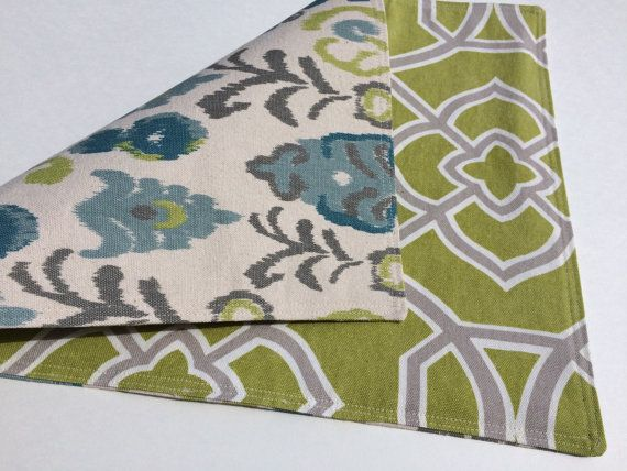 Reversible Placemats  Cotton Placemats  by SometimesISewThings