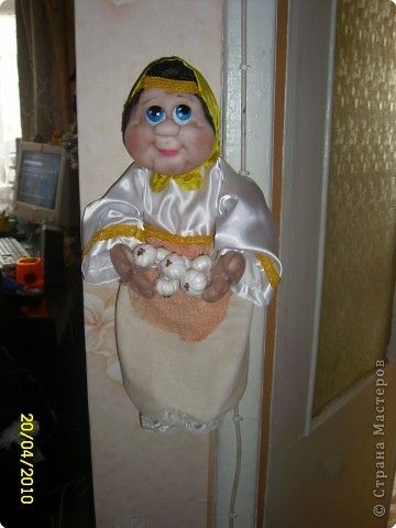 Кукла пакетница своими руками мастер класс из капрона