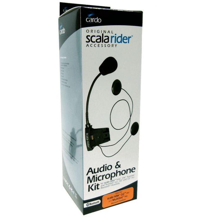 Genuine CARDO SCALA RIDER AUDIO MICROFONO PER TEAMSET Assolo & Q2 BOOM flessibil