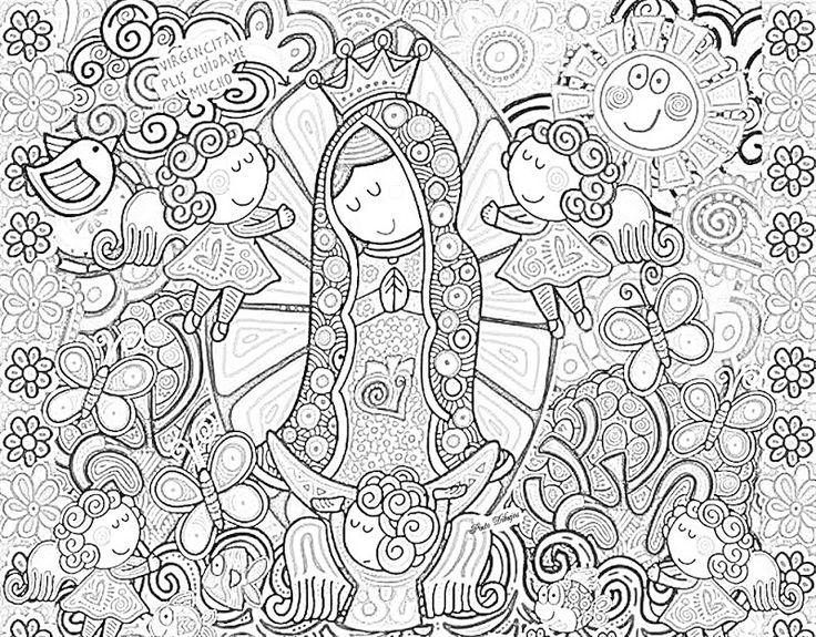 Dibujos Religiosos Para Colorear E Imprimir: 58 Mejores Imágenes De Virgencita Distroller En Pinterest