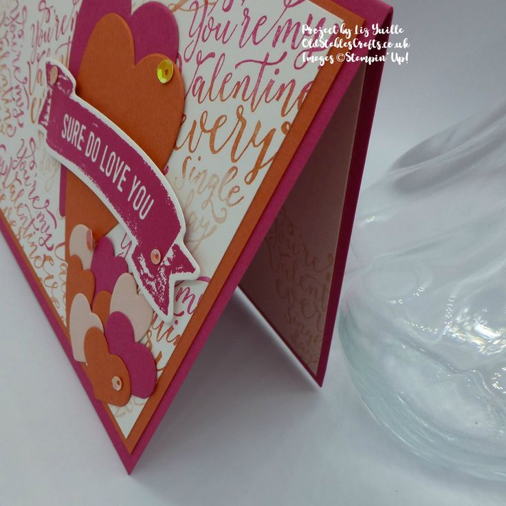 Sure do Love You. Stampin' Up! Oldstablescrafts.co.uk for Inspire.Create.Challenge 009