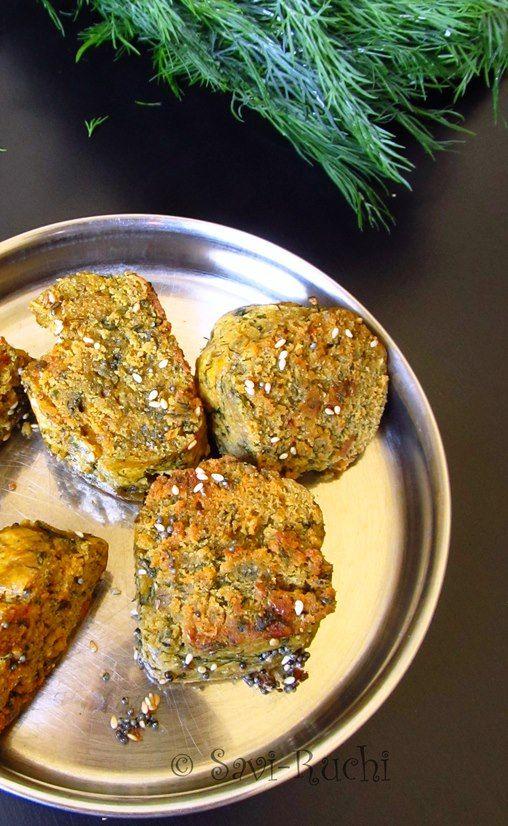 Savi-Ruchi: Muthiya | Muthia | Steamed whole wheat & greens dumpling : Gujarati Cuisine