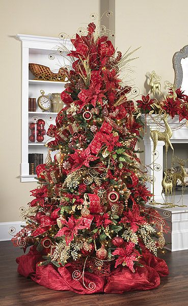Beautiful Red themed Christmas Tree See more ideas like this at www.westtremontholidaymarket.com