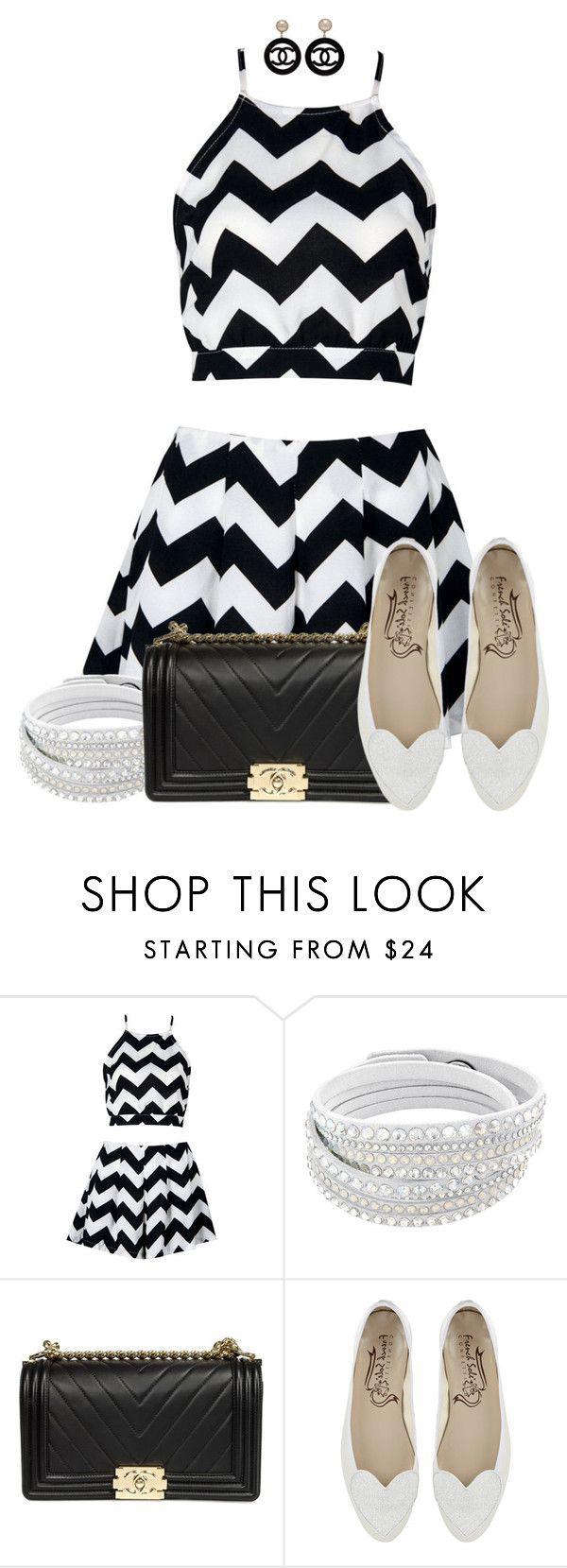 """Chevron Outfit"" by tlb0318 ❤ liked on Polyvore featuring Chanel"