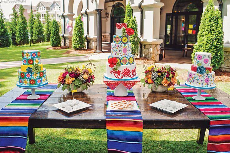 Mesa postres boda estilo mexicano boda mexican for Mesas puestas con estilo
