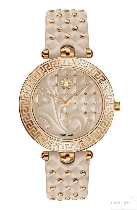 Versace Champagne watches for ladies   www.bocadolobo.com #bocadolobo #luxuryfurniture #exclusivedesign #interiordesign #designideas #livingroomideas #decoration #homedecor #livingroomdecor