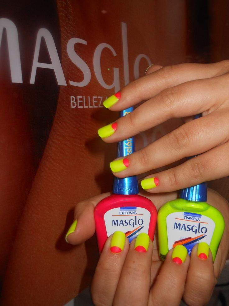 Neon con Masglo. Masglo Nails