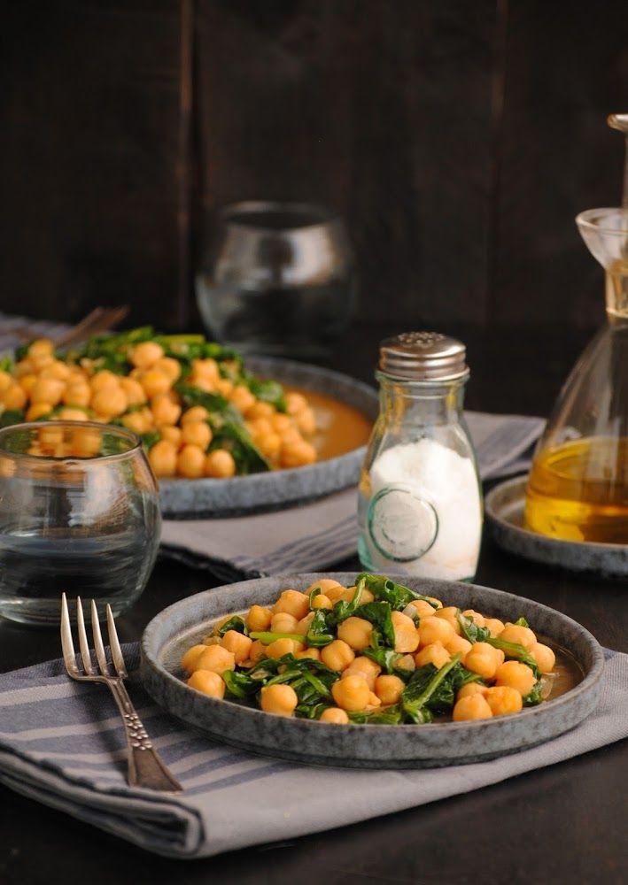 Cocinando con Neus: Garbanzos al pimentón con espinacas