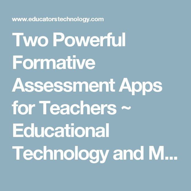 Two Powerful Formative Assessment Apps for Teachers ~ Educational Technology and Mobile Learning