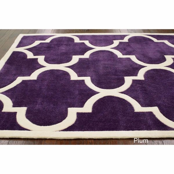 Trellis rug in Plum  @Jan Fehlis Longoria this rug is scrumptious!