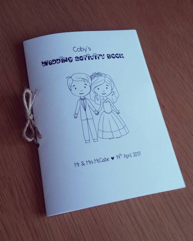 mini book wedding invitations uk%0A Items similar to Children u    s Personalised Wedding Activity Book   Colouring  Book on Etsy