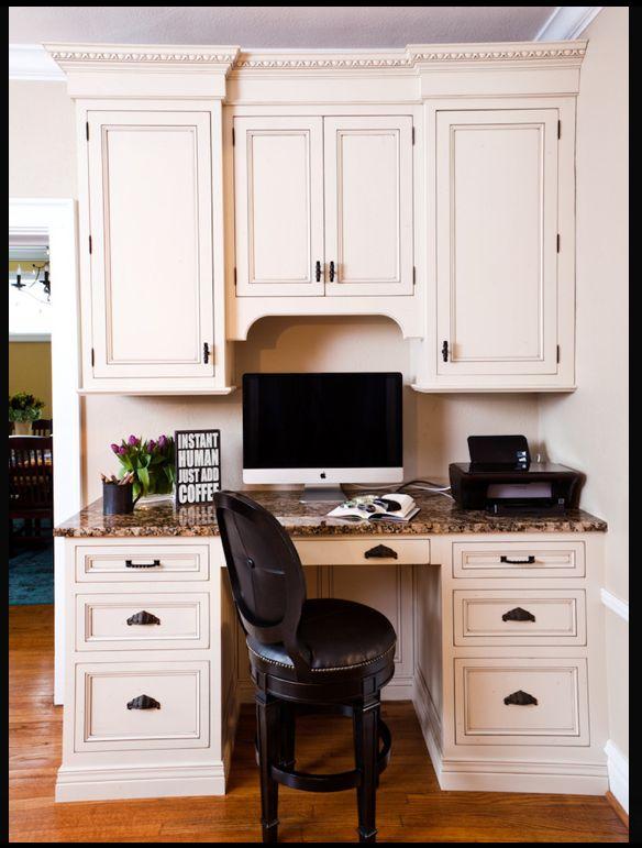 Best 25+ Kitchen desk areas ideas on Pinterest | Kitchen office ...