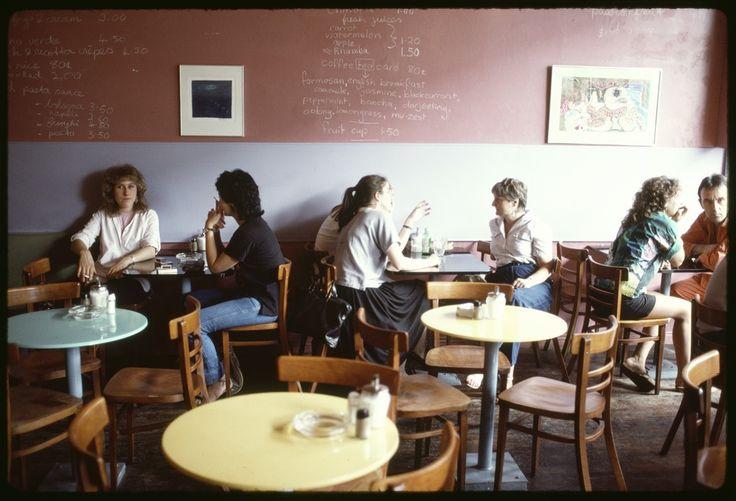 Cafe culture Fitzroy Melbourne 1984.