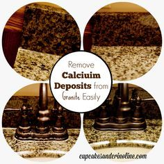 Remove Calcium Deposits from Granite Easily #TryZep from cupcakesandcrinoline.com