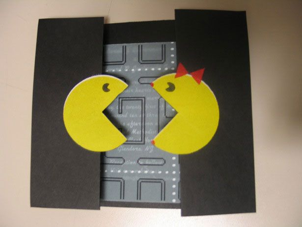 Think I will make this for my honey, just because!: Pac Man, Pacman, Wedding Ideas, Wedding Stuff, Weddings, Wedding Invitations, Party Ideas