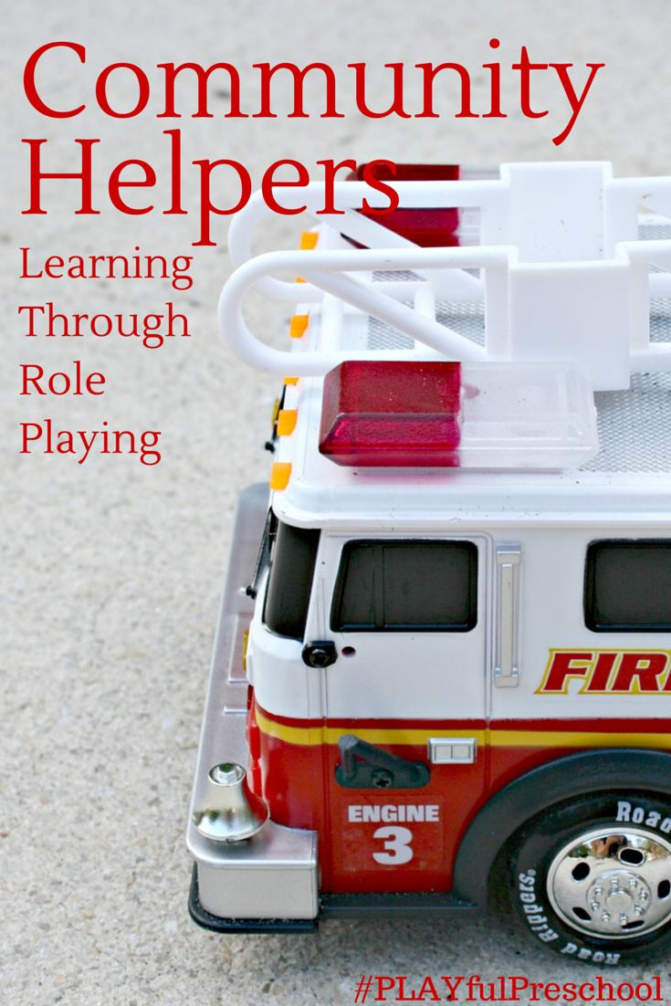 Community helpers unit plan for preschool activities, plan your learning week with an additional 7 Community helper activities for writing, literacy, and more!  | Firetruck