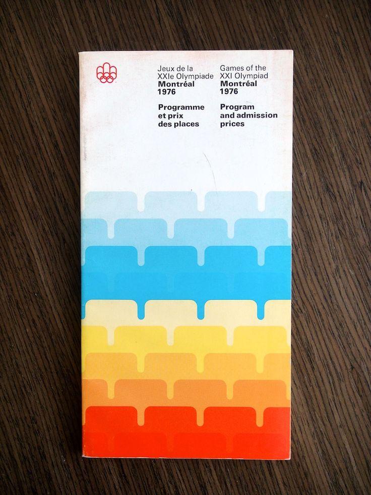 1976 Montréal Olympics Program. Designed by Georges Huel and Pierre-Yves Pelletier