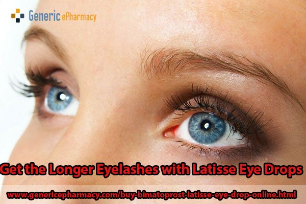 Buy #Latisse online, the best #eyelash #growth #treatment without prescription from #GenericEPharmacy to manage the desire to have longer and darker #eyelashes. You can order latisse only at $7.00 price and get $5 #medicine free on E-Cheque payment.   To get complete information about latisse eyelash growth treatment, Visit us at http://www.genericepharmacy.com/buy-bimatoprost-latisse-eye-drop-online.html