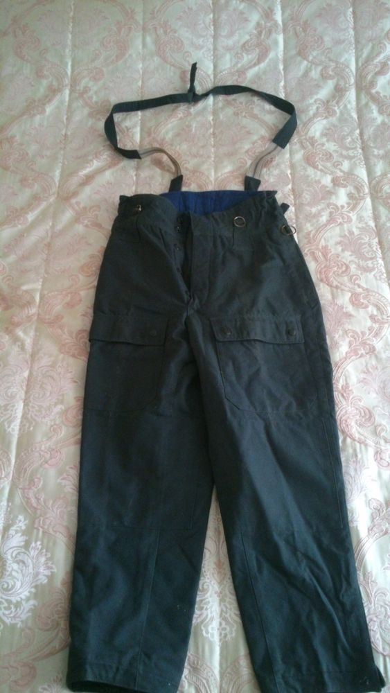 NOS 1969 SOVIET ARMY MILITARY AVIA TECHNICIAN PANTS TROUSERS WARM QUILTED 50-3