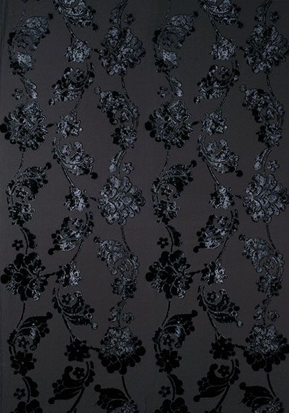 Velvet Jacquard Fabric - Black