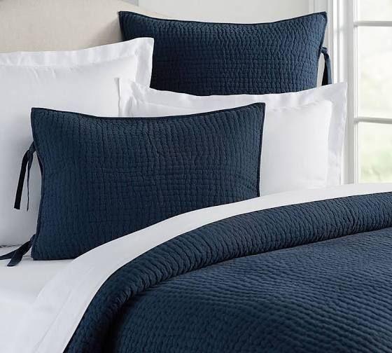 navy blue bedspreads twin