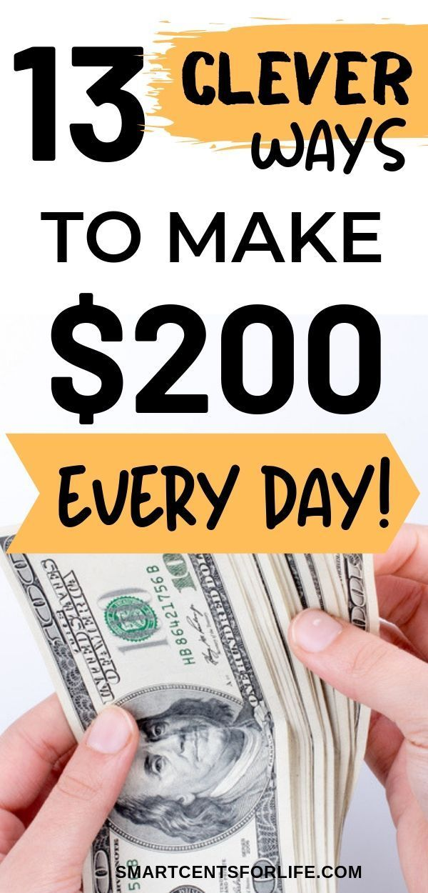How to Make $200 in One Day (TOP Best Ideas for 2019) – Smart Cents For Life | Money Saving Tips, Frugal Living Tips, Get Out Of Debt.