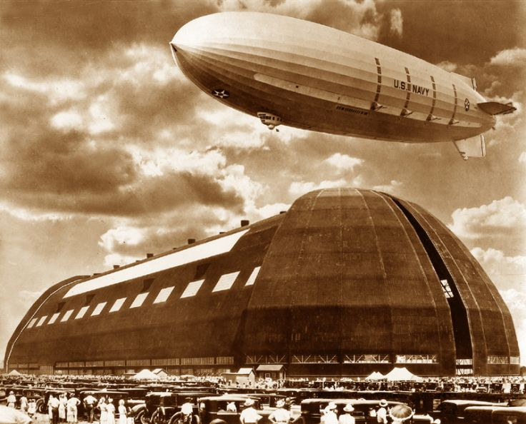 These photos are of the Akron Ohio Airdock. Originally constructed by Goodyear Zeppelin back in the late 1920's this structure still stands ...