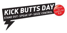 """""""Kick Butts Day"""" was in March, but we can fight lung cancer any time of year! Read this #CTCA #blog about the campaign, and lung cancer #facts"""