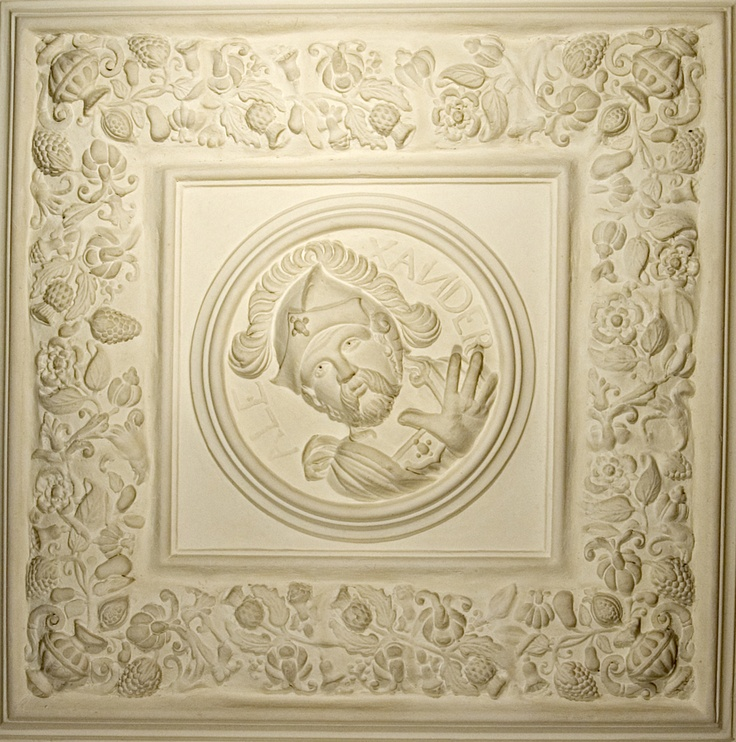 Plaster Roundel from the Ceiling of the Banqueting Hall in the Palace at Dean Castle