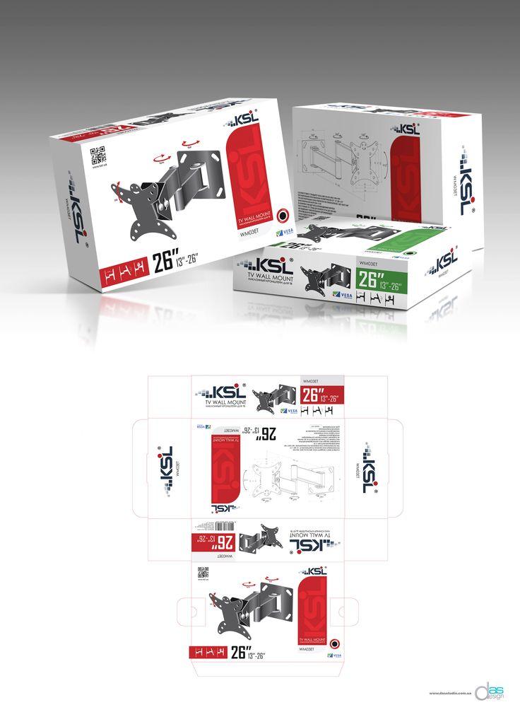 Дизайн упаковки для серии кронштейнов настенных