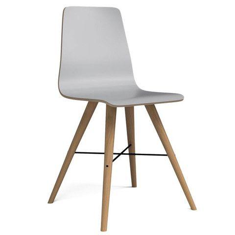 Beaver laminate dining chair (white)