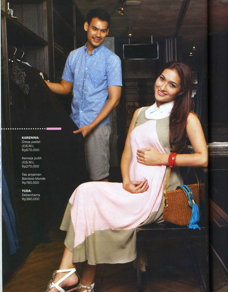 (X)S.M.L White Shirt and Long Dress are appeared on Kartini - May 2013