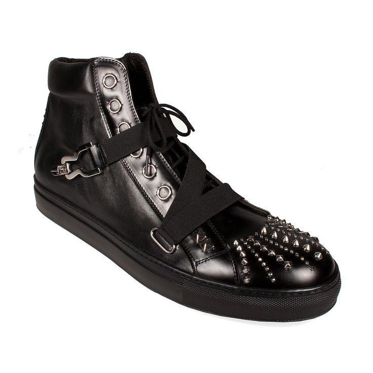Cesare Paciotti Men's Shoes Black Boots (CPM2034)