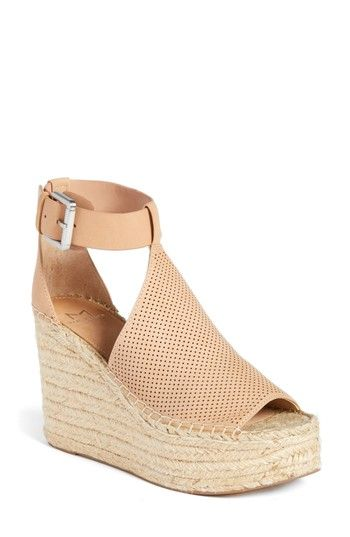 a62ca5d233 Free shipping and returns on Marc Fisher LTD Annie Perforated Espadrille  Platform Wedge (Women) at Nordstrom.com. A perforated vamp connects an open  toe and ...