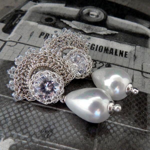 #lacy #silver #bridal #pearls #bridalearrings