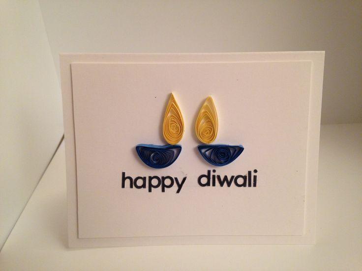 Quilled Diwali card, CAS card. Handmade