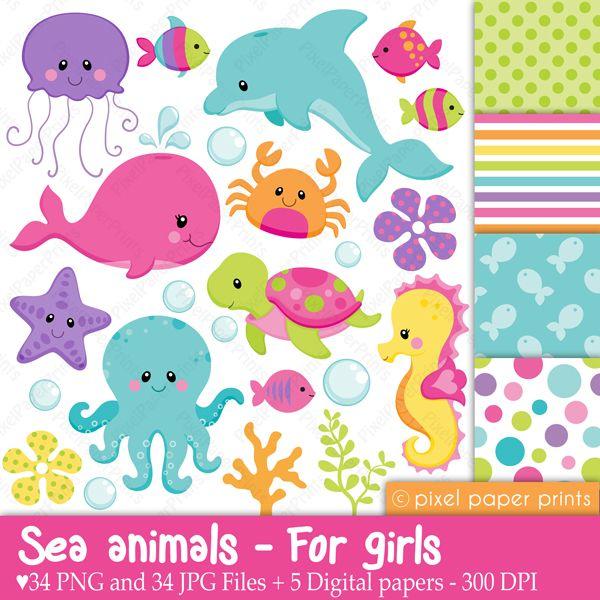 animalitos fondo del mar