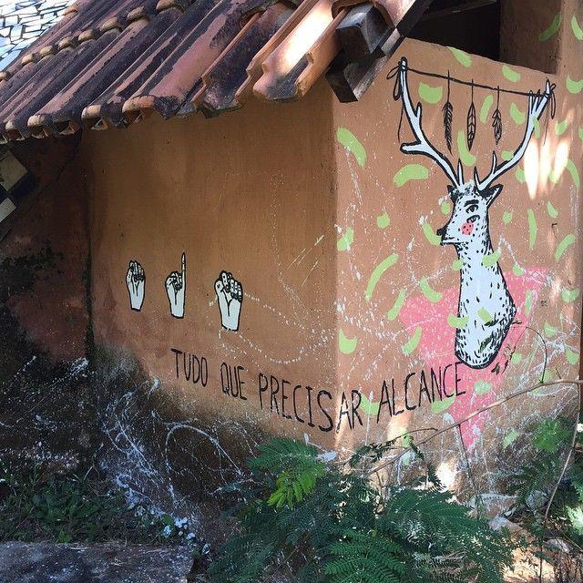 Nossas paredes com mais cores! O trabalho incrível é do artista @efegodoy que deixou presentes lindos pelos cantos do #Ecocentro  #CasaDeBarro #Adobe #Bioconstrução #CasaViva #Sustentabilidade #Permacultura #PorUmMundoMelhor